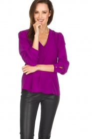 Alice & Trixie |  Silk top Rooney | purple  | Picture 2