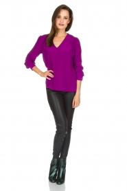 Alice & Trixie |  Silk top Rooney | purple  | Picture 3