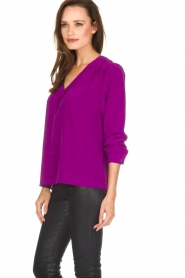 Alice & Trixie |  Silk top Rooney | purple  | Picture 4