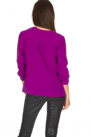 Alice & Trixie |  Silk top Rooney | purple  | Picture 5