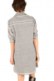 Rough Studios |  Blouse dress Olympia | black & white  | Picture 5