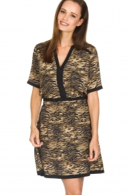 Set |  Animal print dress Della | animal print  | Picture 2