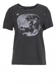 T-shirt Moon | zwart