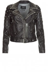 Set |  Leather Biker jacket Stacey | black  | Picture 1