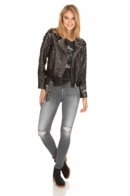 Set |  Leather Biker jacket Stacey | black  | Picture 7