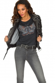 Set |  Leather Biker jacket Stacey | black  | Picture 2