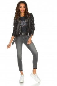 Set |  Leather Biker jacket Stacey | black  | Picture 3