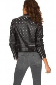 Set |  Leather Biker jacket Stacey | black  | Picture 6