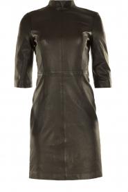 Set | Leren jurk Ann | zwart  | Afbeelding 1