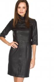 Set | Leren jurk Ann | zwart  | Afbeelding 2
