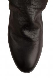 Maluo | Leren wedge enkellaars Saba | zwart  | Afbeelding 5
