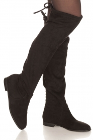 Maluo |  Faux suede boots Julie | black  | Picture 2