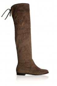 Maluo | Faux suède laarzen Julie | taupe  | Afbeelding 1