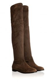 Maluo |  Faux suede boots Julie | taupe  | Picture 3