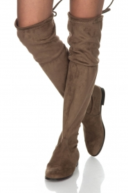 Maluo |  Faux suede boots Julie | taupe  | Picture 2