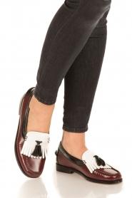 G.H. Bass & Co. | Leren loafers Weejun Esther Kiltie | rood  | Afbeelding 2