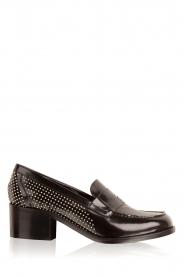 G.H. Bass & Co. | Leren loafers Weejun Penny Stud | zwart  | Afbeelding 1