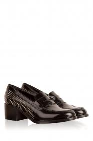 G.H. Bass & Co. | Leren loafers Weejun Penny Stud | zwart  | Afbeelding 3