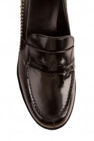 G.H. Bass & Co. | Leren loafers Weejun Penny Stud | zwart  | Afbeelding 6