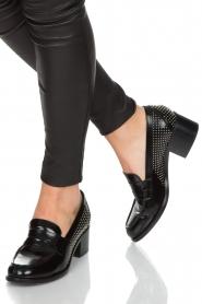 G.H. Bass & Co. | Leren loafers Weejun Penny Stud | zwart  | Afbeelding 2