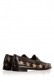 G.H. Bass & Co. : Leren loafers Weejun Penny Star | zwart - img4