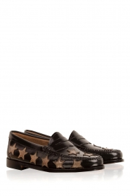 G.H. Bass & Co. : Leren loafers Weejun Penny Star | zwart - img3