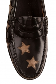 G.H. Bass & Co. : Leren loafers Weejun Penny Star | zwart - img6