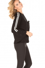 Atos Lombardini |  Sweater Two Stripes | black   | Picture 3