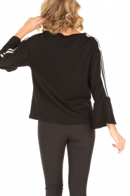 Atos Lombardini |  Sweater Two Stripes | black   | Picture 4