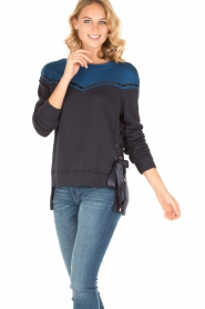 Atos Lombardini |  Sweater Blocking | blue   | Picture 2