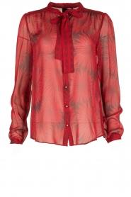 Atos Lombardini | Zijden blouse Reddy | rood  | Afbeelding 1