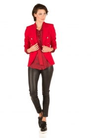 Atos Lombardini | Zijden blouse Reddy | rood  | Afbeelding 3