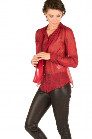 Atos Lombardini | Zijden blouse Reddy | rood  | Afbeelding 4