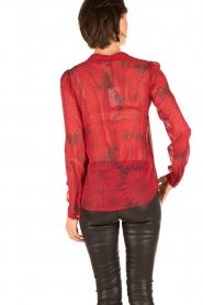 Atos Lombardini | Zijden blouse Reddy | rood  | Afbeelding 5