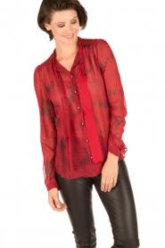 Atos Lombardini | Zijden blouse Reddy | rood  | Afbeelding 2