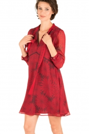 Atos Lombardini |  Silk dress Reddy | red  | Picture 2