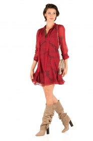 Atos Lombardini |  Silk dress Reddy | red  | Picture 3
