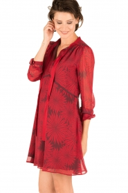 Atos Lombardini |  Silk dress Reddy | red  | Picture 4
