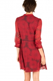 Atos Lombardini |  Silk dress Reddy | red  | Picture 5