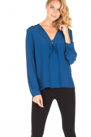 Atos Lombardini | Blouse Cloudy | blauw  | Afbeelding 2