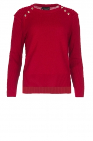 Atos Lombardini |  Sweater Buttons | red  | Picture 1