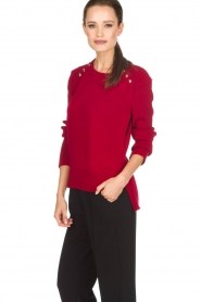 Atos Lombardini |  Sweater Buttons | red  | Picture 4