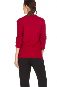 Atos Lombardini |  Sweater Buttons | red  | Picture 5