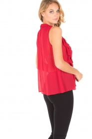 Atos Lombardini |  Top with ruffles Weavy | red  | Picture 5
