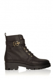 Leather boots Buckle | black