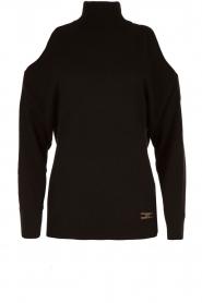 ELISABETTA FRANCHI | Gebreide open shoulder trui Winnie | zwart  | Afbeelding 1