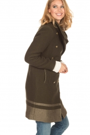 MASONS |  Woollen coat Marsilliana | green  | Picture 4