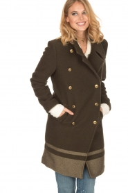 MASONS |  Woollen coat Marsilliana | green  | Picture 6