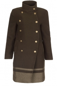 MASONS |  Woollen coat Marsilliana | green  | Picture 1