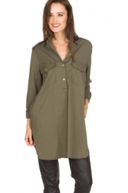 MASONS |  Tunic blouse Sofia | green  | Picture 2